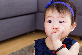 Sucking the thumb or fingers, or other oral habits